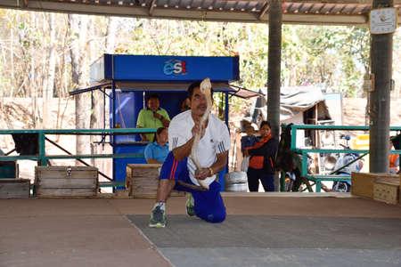 Khon Kaen,Thailand - February3,2016 -a public show in the King Cobra Village, Thailand.