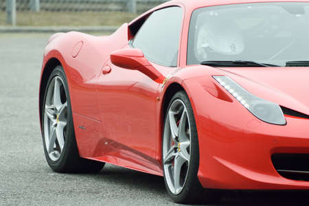 September 11,2015: Ferrari 458 GT at le Circuit de Lohéac,France. Editöryel