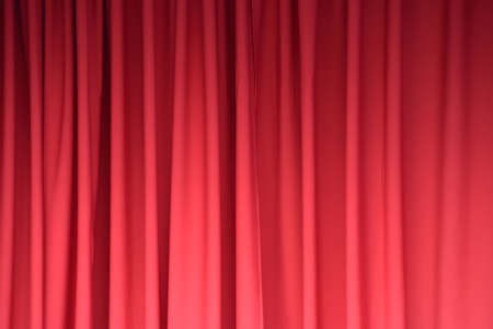 Elegant red curtain  as background.
