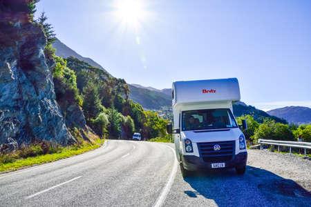 New Zealand  -May 3,2016:  Caravan park in New Zealand.