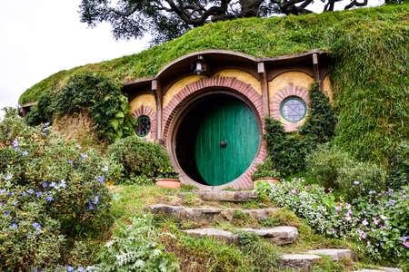 Auckland,New Zealand  -April 29,2016:Hobbiton Movie Set .