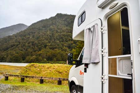New Zealand  -May 2,2016:  Caravan park in New Zealand.