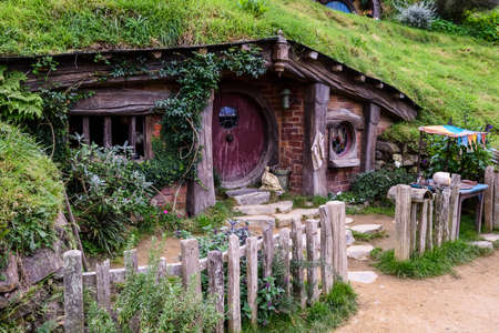 Auckland,New Zealand  -April 29,2016:Hobbiton Movie Set .