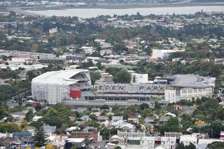 Auckland,New Zealand  -April 29,2016: Eden Park from top view.Eden Park is New Zealand's largest stadium