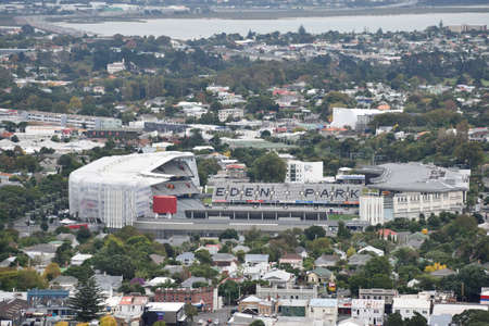 Auckland,New Zealand  -April 29,2016: Eden Park from top view.Eden Park is New Zealands largest stadium