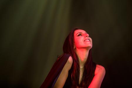5 december: KYIV, UKRAINE - DECEMBER 5: The famous Ukrainian singer Jamala enjoys the atmosphere presenting her new album Podykh (Breath), 5 December 2016, International Center of Culture and Arts (October Palace) Editorial