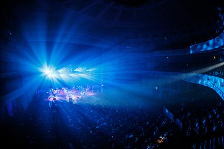 5 december: KYIV, UKRAINE - DECEMBER 5: The famous Ukrainian singer Jamala gave a concert presenting her new album Podykh (Breath), 5 December 2016, International Center of Culture and Arts (October Palace)