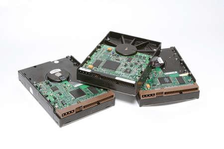 ata: Hard drives isolated Stock Photo