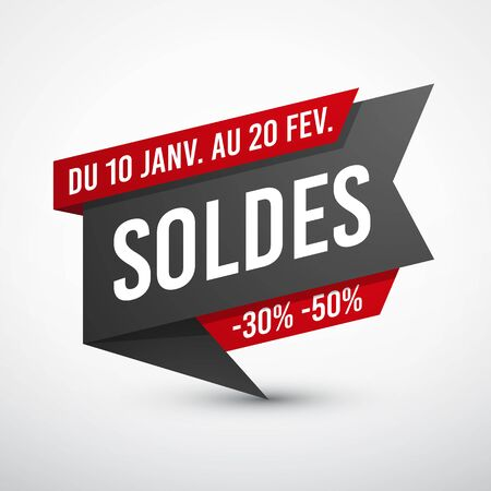 Black and red sale banner.