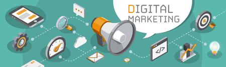 Digital marketing and seo concept
