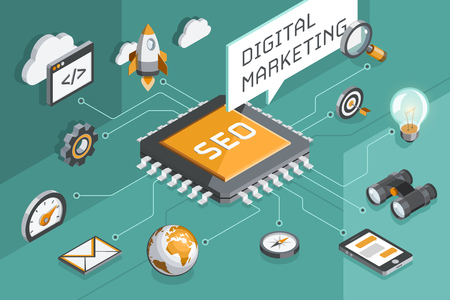 Digital marketing and seo concept