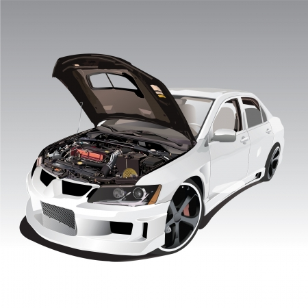 car engine: Vector Engine car sports show Illustration