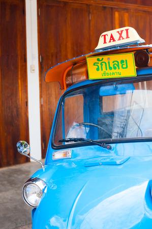 khan: taxi tuktuk  chiang khan loei Thailand
