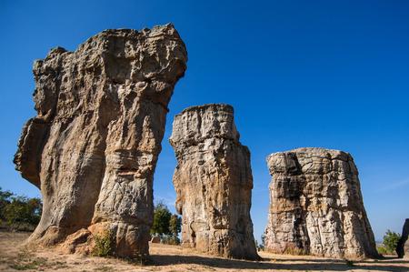 atmospheric phenomena: Stonehenge of Thailand Mo Hin khao at Chaiyaphum province Thailand