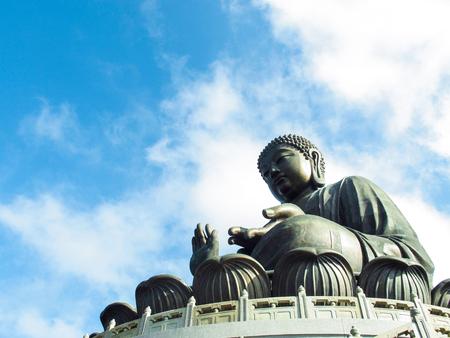 lantau: Giant BuddhaPo Lin Monastery in Hong Kong Lantau Island Stock Photo