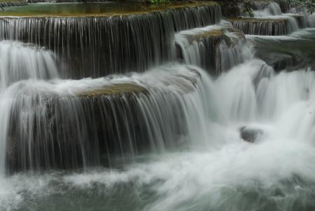 cataract falls: Huay Mae Kamin Waterfall in Khuean Srinagarindra National Park, Kanchanaburi province, Thailand