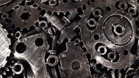 metal textures: Scrap metal steel textures and patterns creative designs Stock Photo