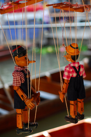 Doll wood Pinocchio handmade puppet