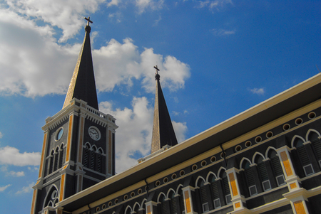 Catholic Church in Chanthaburi province, THAILAND Stock Photo