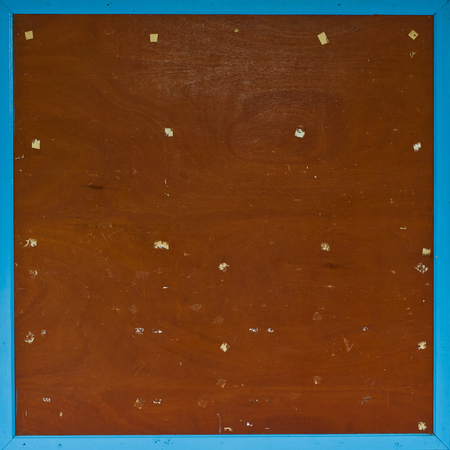 pinboard: Blank wood board with blue wooden in a frame