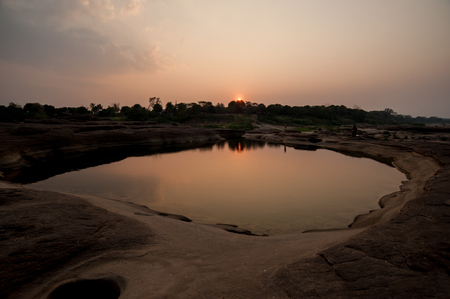 recommended: Unseen Sunset at rock holes Stone View Sam Pan Bok Grand Canyon, Ubon ratchathani, Northeast of Thailand