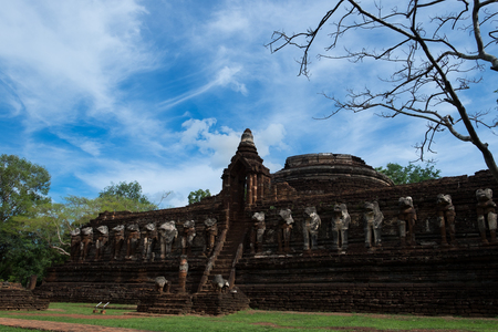 Wat Chang Rop temple Historical Park in Kamphaeng Phet, Thailand (a part of the UNESCO World Heritage Site Historic Town of Sukhothai and Associated Historic Towns) Stock Photo
