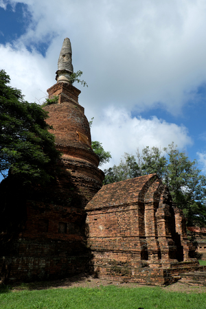 chang: Wat Nong Langka Historical Park in Nakhon Chum Kamphaeng Phet, Thailand (a part of the UNESCO World Heritage Site Historic Town of Sukhothai and Associated Historic Towns)