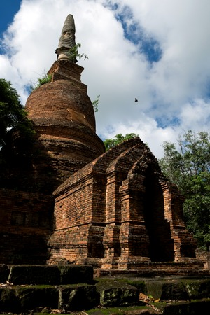 Wat Nong Langka Historical Park in Nakhon Chum Kamphaeng Phet, Thailand (a part of the UNESCO World Heritage Site Historic Town of Sukhothai and Associated Historic Towns)