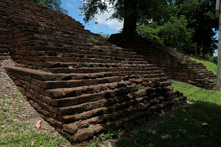 Fortress Historical Park in Nakhon Chum Kamphaeng Phet, Thailand (a part of the UNESCO World Heritage Site Historic Town of Sukhothai and Associated Historic Towns)