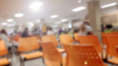 corridors: Abstract Blurred background : Vintage filter patient waiting for see doctor. Stock Photo