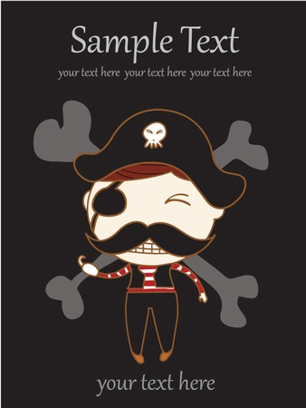 Vector Illustration of Children Pirate Vettoriali