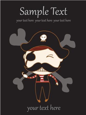 Vector Illustration of Children Pirate Illustration