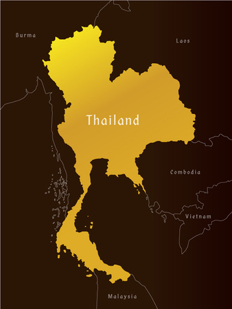 map of thailand administrative, vector Illustration