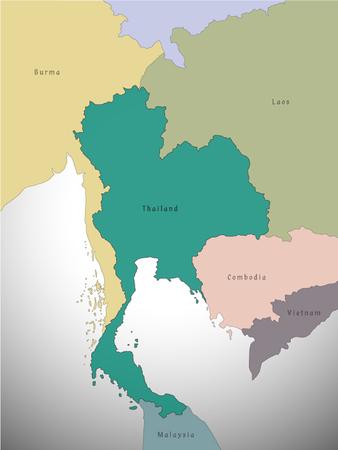 map of thailand administrative, vector Illustration Ilustracje wektorowe