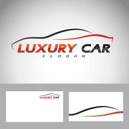 abstract car design concept automotive topics vector logo design template. Vector illustration