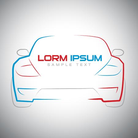 abstrakcyjny samochód sportowy wyścigi logo szablon ilustracji wektorowych Logo