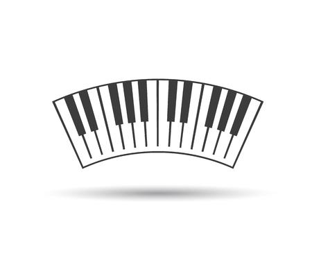 Piano Keyboards Logo Vector Illustrations Eps Stock