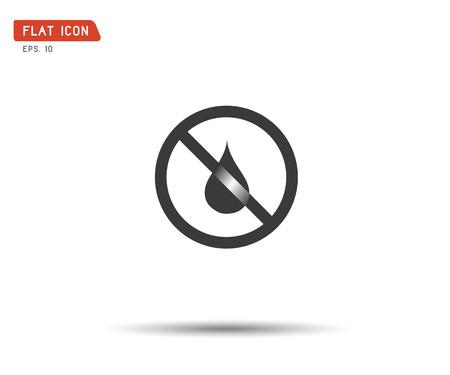 water drop forbidden, no wet logo vector illustration Illustration