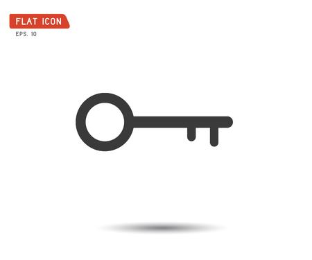 Key Icon flat, logo classic style, vector illustration