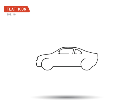 Car icon, Flat logo Vector illustration