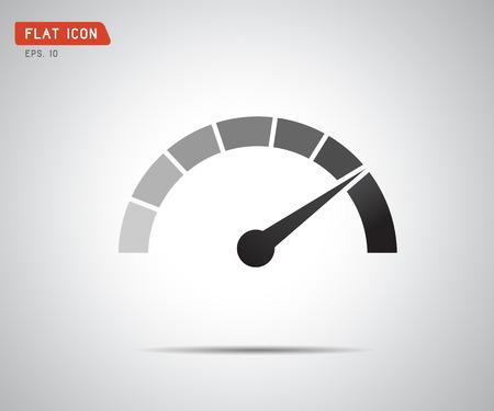 Medición del desempeño. Velocidad del logotipo, ilustración del vector del icono Logos