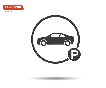 Car parking sign, vector illustration This logo modern transport template can be representative of travel, tourism, park shopping, website, etc