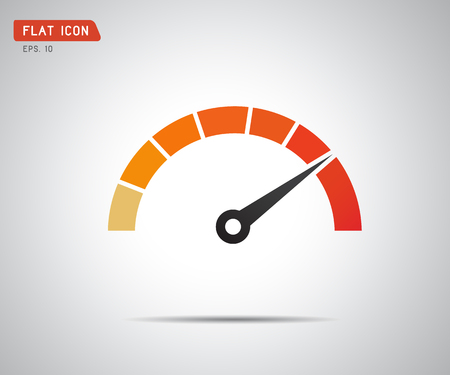 Performance measurement. Logo Speed, icon Vector illustration