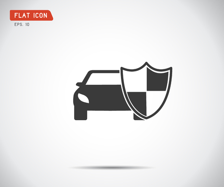 vehicle icon shield, auto car guard insurance logo vector illustration