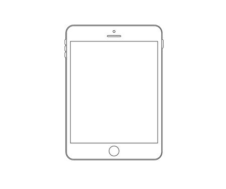 smartphone icon, tablet, phone logo vector illustration Ilustrace