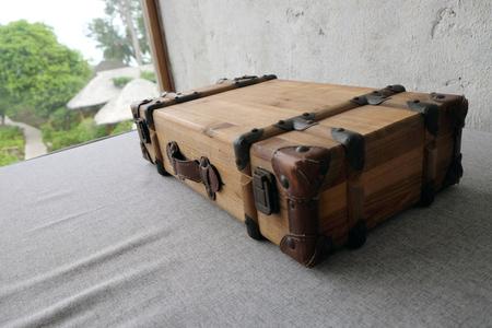Old suitcase. travel bag vintage style