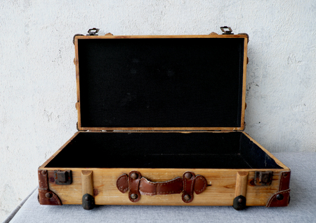Old suitcase. travel bag vintage style