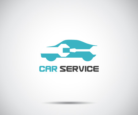 Car service icon, Auto Repair, Flat Maintenance logo design Vector illustration Ilustrace