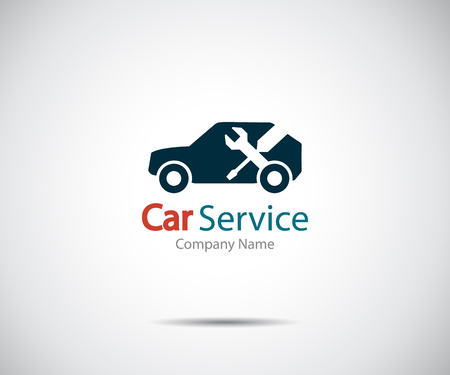 Car service icon, Auto Repair, Flat Maintenance logo design Vector illustration Vectores