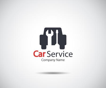 Autoservicepictogram, Autoreparatie, Flat Maintenance-logo-ontwerp Vectorillustratie Logo